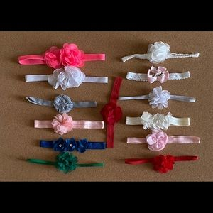 Other - baby headbands with flowers!!